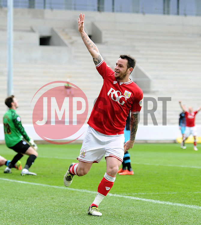 Lee Tomlin of Bristol City celebrates his goal - Mandatory by-line: Dougie Allward/JMP - 09/04/2016 - FOOTBALL - Ashton Gate Stadium - Bristol, England - Bristol City v Sheffield Wednesday - Sky Bet Championship