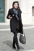 2013/03/19 Roma, parlamentari in Piazza Montecitorio. Nella foto Giulia Sarti.<br /> Rome, parliamentarians in Montecitorio Square. In the picture Giulia Sarti - &copy; PIERPAOLO SCAVUZZO