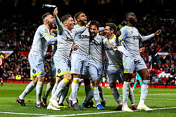Jack Marriott of Derby County celebrates with teammates after scoring a goal to make it 2-1 - Mandatory by-line: Robbie Stephenson/JMP - 25/09/2018 - FOOTBALL - Old Trafford - Manchester, England - Manchester United v Derby County - Carabao Cup