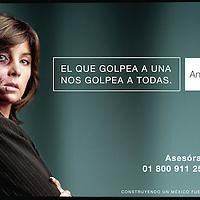 """Mexico, D.F.- La conductora de Television Ana Maria Lomeli en promocionales de la Campaña del Inmujeres en contra de la violencia hacia las mujeres """"El que golpea a una nos golpea a todas"""". Agencia MVT / Inmujeres. (DIGITAL)<br /><br />NO ARCHIVAR - NO ARCHIVE"""