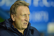 Queens Park Rangers Interim Head Coach Neil Warnock during the Sky Bet Championship match between Reading and Queens Park Rangers at the Madejski Stadium, Reading, England on 3 December 2015. Photo by Mark Davies.