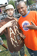 l to r: Jay Period and Uncle Ralph McDaniels at The 4th Annual Brooklyn HipHop Festival Main performance sponsored by Truth held at Empire Fulton-Ferry State Park on July 12, 2008..The Kings and Queens of Brooklyn return home supported by the next wave from Brooklyn and beyond featuring performances from: KRS One, DJ Premier, Buckshot, Blu & Exile, Mickey Factz, 88-Keys, J.Period, Fresh Daily, Zaki Ibrahim, Homeboy Sandman and Special Guests! Hosted by Uncle Ralph McDaniels ..