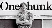 Teenager boy in retro style shirt, UK, 1984