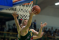 Vladimer Boisa of Olimpija during basketball match between KK Krka and KK Union Olimpija in 14th round of second part of Telemach league, on May 20, 2011 in Arena Leon Stukelj, Novo mesto, Slovenia. (Photo By Vid Ponikvar / Sportida.com)