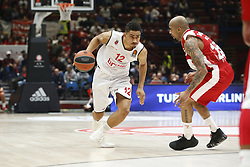 November 17, 2017 - Milan, Milan, Italy - Maodo Lo (#12 Brose Bamberg) drives to the basket during a game of Turkish Airlines EuroLeague basketball between  AX Armani Exchange Milan vs Brose Bamberg at Mediolanum Forum, on November 17, 2017 in Milan, Italy. (Credit Image: © Roberto Finizio/NurPhoto via ZUMA Press)