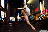 Dance As Art  New York City Photography Times Square Series with dancer, Erika Citrin