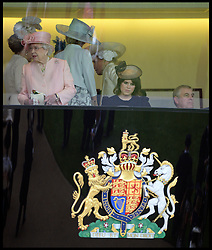 The Countess of Wessex and Prince Andrew watch the races in the Royal Box on the Opening day of Royal Ascot 2013 Ascot, United Kingdom<br /> Tuesday, 18th June 2013,<br /> Picture by Andrew Parsons / i-Images