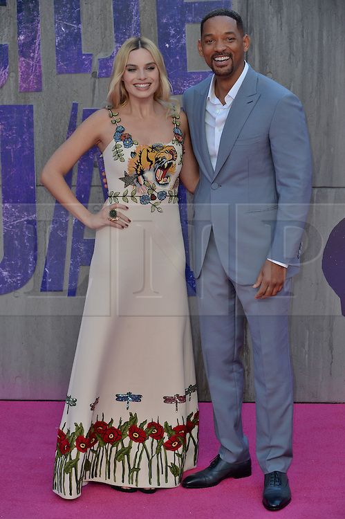 © Licensed to London News Pictures. 03/08/2016. Guests including WILL SMITH, CARA DELEVIGNE, MARGOT ROBBIE and JARAD LETO attend the Suicide Squad UK Film Premiere<br />