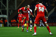 Preston North End Midfielder Alan Browne and Charlton Athletic midfielder Jordan Cousins battle during the Sky Bet Championship match between Preston North End and Charlton Athletic at Deepdale, Preston, England on 23 February 2016. Photo by Pete Burns.
