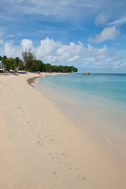 There are many beautiful spots to visit in Barbados along the coast.  From the rugged North Point to calm idealic West Coast and freshness of the South. All have their own natural beauty and must be seen.<br /> PAYNES BAY FOOTSTEPS IN THE SAND, BARBADOS
