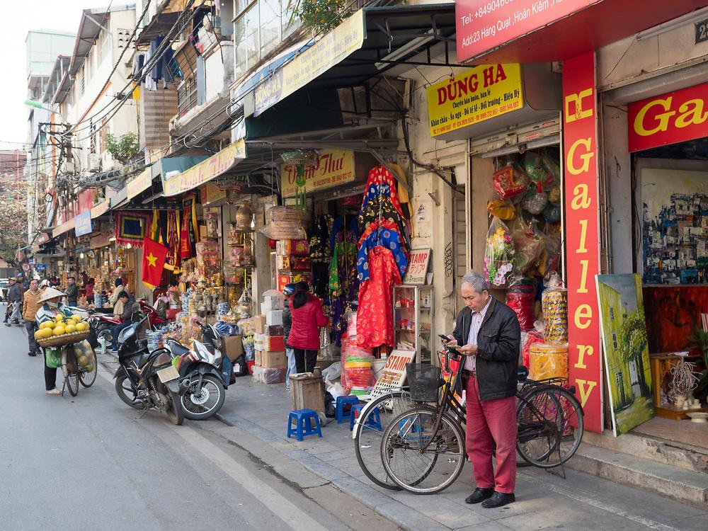 Asia, Vietnam, Hanoi, old quarter Editorial Use Only.