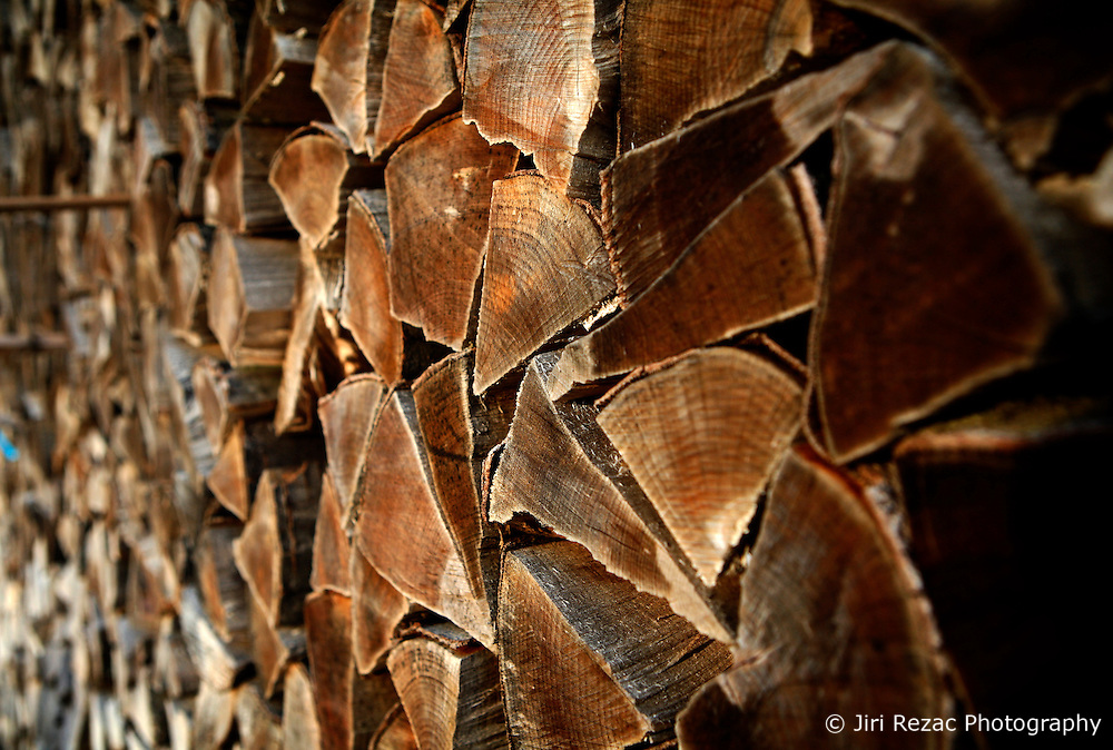 SWITZERLAND LANGNAU JAN12 - A pile of fuelwood on a farm near Langnau im Emmental, Switzerland.....jre/Photo by Jiri Rezac....© Jiri Rezac 2012