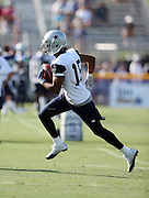 Dallas Cowboys wide receiver Devin Street (15) runs with the ball after catching a pass during the second day of the Dallas Cowboys 2016 NFL training camp football practice held on Sunday, July 31, 2016 in Oxnard, Calif. (©Paul Anthony Spinelli)