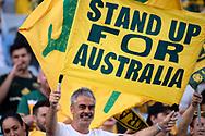 SYDNEY, AUSTRALIA - NOVEMBER 20: Australian supporters at the international soccer match between Australia and Lebanon at ANZ Stadium in NSW, Australia. on November 20, 2018. (Photo by Speed Media/Icon Sportswire)