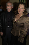 Edward Albee and Kathleen Turner. The after party following the press night for 'Who's Afraid Of Virginia Woolf?' at the Aldwych theatre on January 31 2006  January 31  2006. © Copyright Photograph by Dafydd Jones 66 Stockwell Park Rd. London SW9 0DA Tel 020 7733 0108 www.dafjones.com