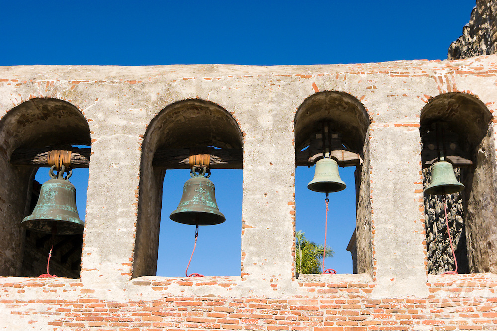 Four Mission Bells, Mission San Juan Capistrano, California
