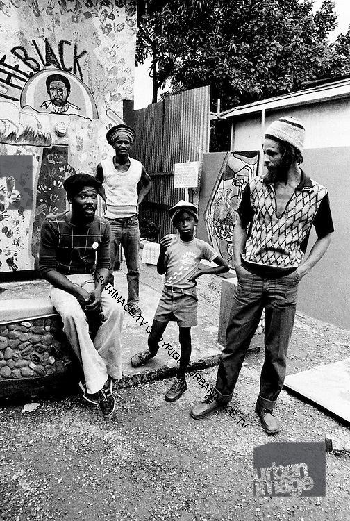 George Faith at Lee Perry's Black Ark Studios. 1978
