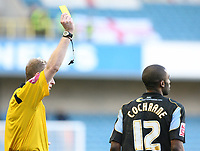 Cochrane for Rotherham gets a yellow card