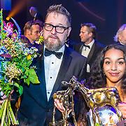 NLD/Utrecht/20170929 - Uitreiking Gouden Kalveren 2017, Martin Koolhoven en Nora El Koussour