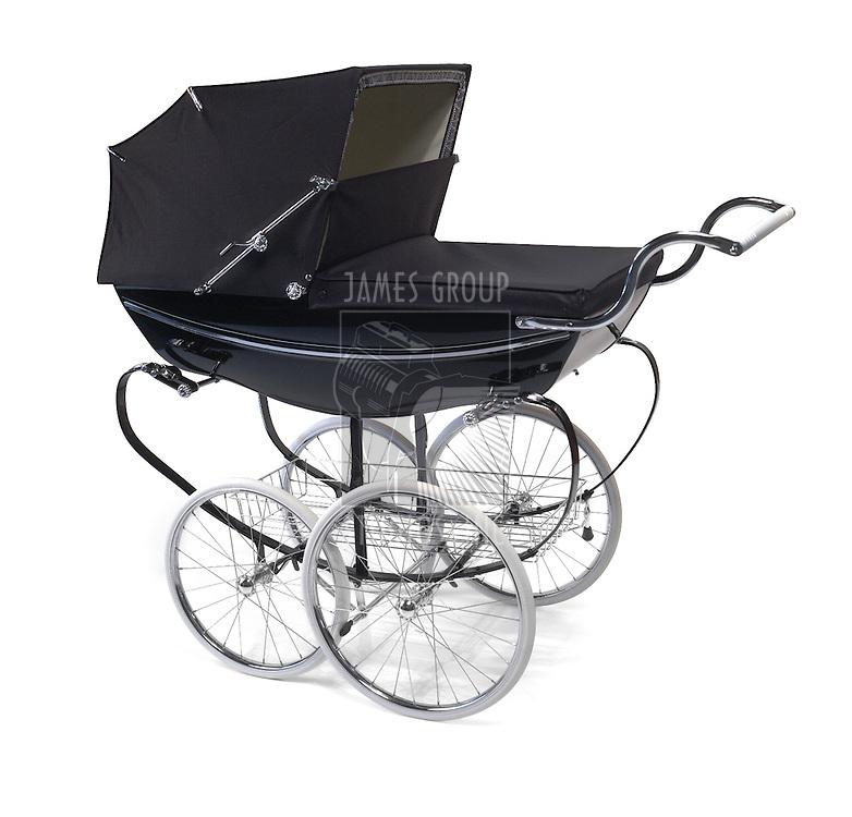 baby buggy/ pram on white