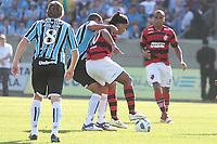 20111030: PORTO ALEGRE, BRAZIL - Football match between Gremio and  Flamengo teams held at the Sao januario. In picture Ronaldinho  Gaucho(Flamengo) and Gilberto Silva (Gremio)<br /> PHOTO: CITYFILES