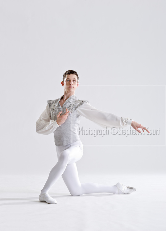 Studio photography for the New Zealand School of Dance with classical dance students, on 25 June 2011.