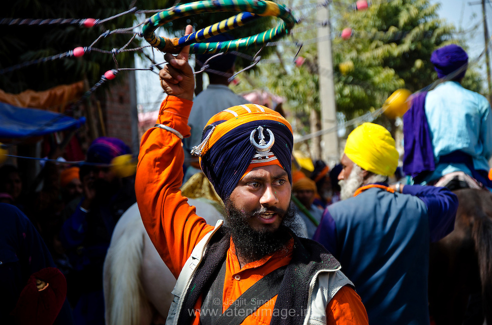 Hola Mohalla is an occasion for the Nihangs to display their preparedness for war and exhibit their skills in martial arts.