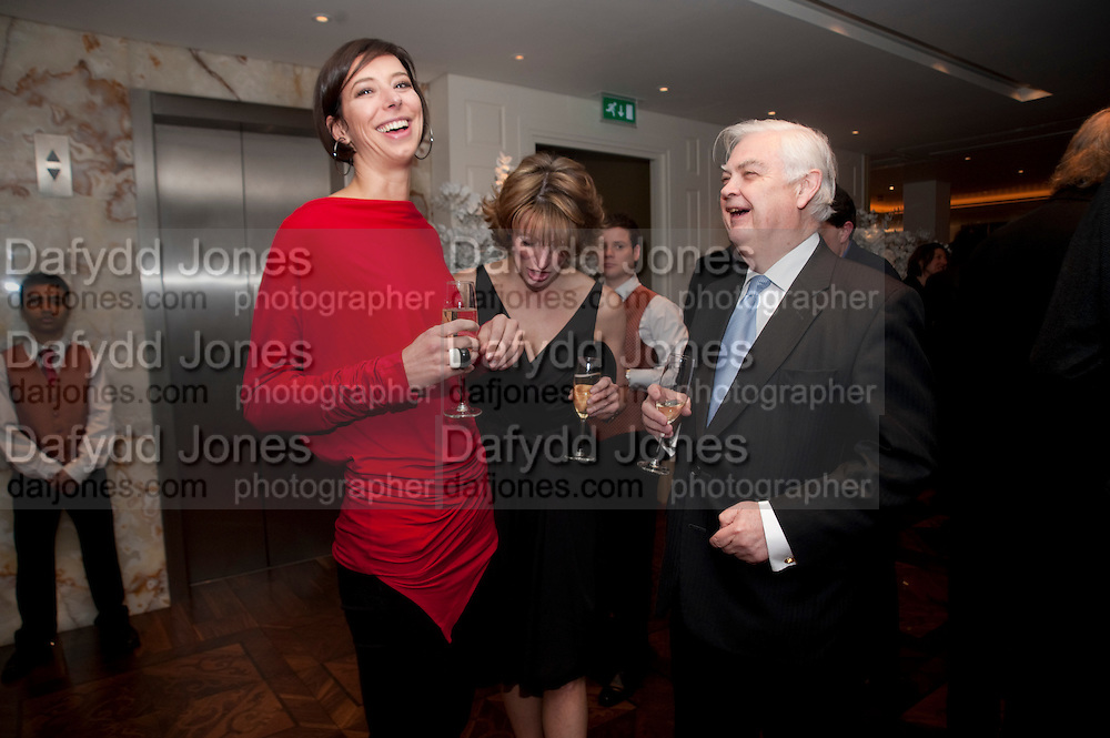 KRISTINA BLAHNIK; JAY HUEY EVANS; LORD LAMONT, Book launch party for the paperback of Nicky Haslam's book 'Sheer Opulence', at The Westbury Hotel. London. 21 April 2010
