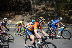 Karol-Ann Canuel (CAN) of Boels-Dolmans Cycling Team digs deep on the final climb of Stage 10 of the Giro Rosa - a 124 km road race, starting and finishing in Torre Del Greco on July 9, 2017, in Naples, Italy. (Photo by Balint Hamvas/Velofocus.com)