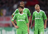 FUSSBALL   1. BUNDESLIGA  SAISON 2012/2013   10. Spieltag 1. FC Nuernberg - VfL Wolfsburg      03.11.2012 Diego, Naldo und Simon Kjaer (v. li., VfL Wolfsburg)
