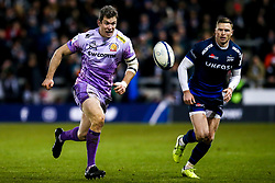 Ian Whitten of Exeter Chiefs takes on Chris Ashton of Sale Sharks - Mandatory by-line: Robbie Stephenson/JMP - 08/12/2019 - RUGBY - AJ Bell Stadium - Manchester, England - Sale Sharks v Exeter Chiefs - Heineken Champions Cup