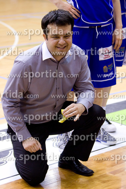 Coach of Celje Damir Grgic at 4th final match of Slovenian women basketball 1st league between Hit Kranjska Gora and ZKK Merkur Celje, on May 13, 2010, in Arena Vitranc, Kranjska Gora, Slovenia. Celje defeated Kr. Gora 71-60 and the result after 4th match is 2-2. (Photo by Vid Ponikvar / Sportida)