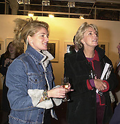Avery Agnelli and her mother Mrs. David Metcalfe. . Art 2001. The 13th London Contemporary Art Fair.Charity Preview in aid of the South London Art Gallery. 16 January 2001.  © Copyright Photograph by Dafydd Jones 66 Stockwell Park Rd. London SW9 0DA Tel 020 7733 0108 www.dafjones.com