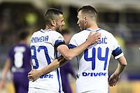 Firenze 22-04-2017 Stadio Artemio Franchi Football Calcio Serie A 2016/2017 Fiorentina - Inter / foto Daniele Buffa/Image Sport<br /> esultanza gol Ivan Perisic Inter 1-1 Goal celebration with Antonio Candreva