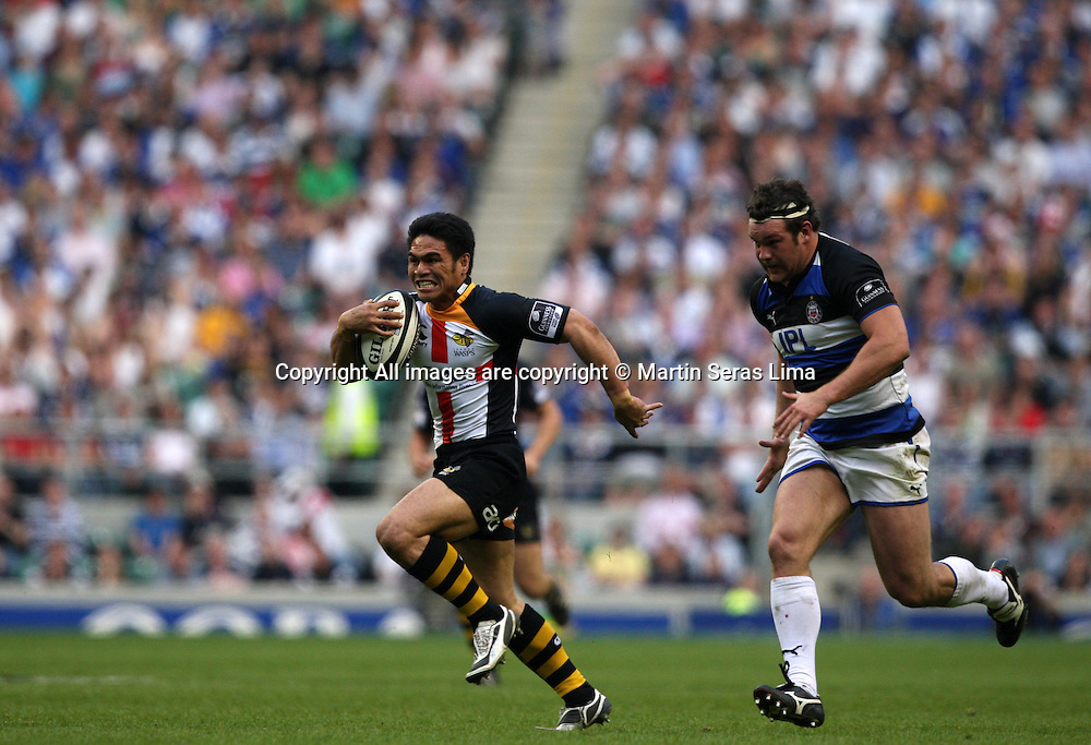 David Lemi with the ball- Guinness Premiership - London Wasps v Bath Rugby - Saturday 24 April 2010. Twickenham - London
