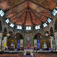 Inside the Cathedral Immaculate Conception in Castries, Saint Lucia<br />