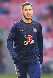 February 24, 2019 - London, England, United Kingdom - Chelsea's Eden Hazard during the pre-match warm-up .during during Carabao Cup Final between Chelsea and Manchester City at Wembley stadium , London, England on 24 Feb 2019. (Credit Image: © Action Foto Sport/NurPhoto via ZUMA Press)