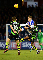 Joe Partington of Bristol Rovers challenges for the ball with Rodney Kongolo - Mandatory by-line: Dougie Allward/JMP - 23/12/2017 - FOOTBALL - Memorial Stadium - Bristol, England - Bristol Rovers v Doncaster Rovers - Skt Bet League One