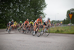Chantal Blaak (NED) of Boels-Dolmans Cycling Team leads the chase during the 141 km road race of the UCI Women's World Tour's 2016 Crescent Vårgårda women's road cycling race on August 21, 2016 in Vårgårda, Sweden. (Photo by Balint Hamvas/Velofocus)