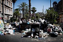 Napoli  23.06.2011 - Emergenza rifiuti a Napoli. Nella Foto: Cumuli di rifiuti del centro storico. Photo by Giovanni Marino