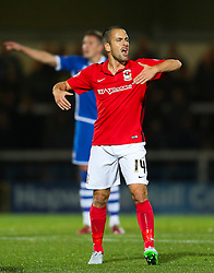 Joe Cole of Coventry City shouts to his team mates  - Mandatory byline: Matt McNulty/JMP - 07966 386802 - 20/10/2015 - FOOTBALL - Gigg Lane - Rochdale, England - Rochdale v Coventry - Sky Bet League One