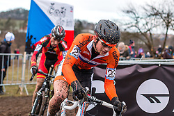 David van der Poel (NED), Men Elite, Cyclo-cross World Championship Tabor, Czech Republic, 1 February 2015, Photo by Pim Nijland / PelotonPhotos.com