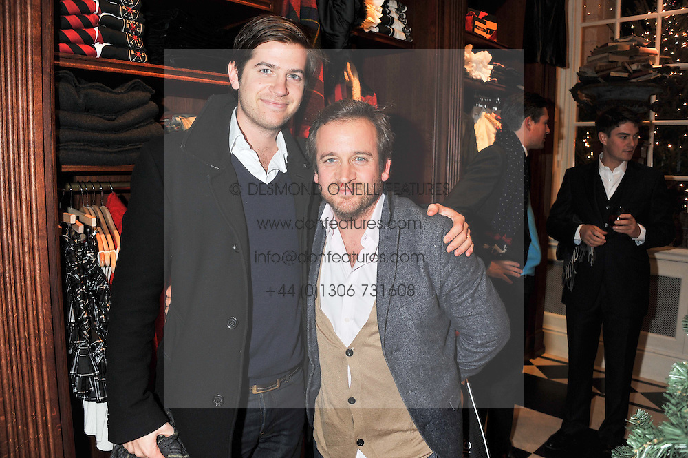 Left to right, brothers JACK FREUD and TOM FREUD at a party hosted by TLC to celebrate signing their 5000th member and Ralph Lauren to celebrate the opening of the first Ralph Lauren Rugby store in the UK at 43 King Street, Covent Garden, London on 30th November 2011.