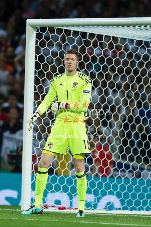 TOULOUSE, FRANCE - Monday, June 20, 2016: Wales goalkeeper Wayne Hennessey during the final Group B UEFA Euro 2016 Championship match against Russia at Stadium de Toulouse. (Pic by Paul Greenwood/Propaganda)