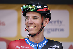 February 14, 2018 - Lagos, Portugal - Dylan Teuns of BMC Racing Team before the 1st stage of the cycling Tour of Algarve between Albufeira and Lagos, on February 14, 2018. (Credit Image: © Str/NurPhoto via ZUMA Press)