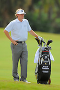 Brandt Snedeker stands with his bag during the first round of the World Golf Championship Cadillac Championship on the TPC Blue Monster Course at Doral Golf Resort And Spa on March 8, 2012 in Doral, Fla. ..©2012 Scott A. Miller.