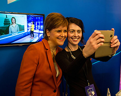 Pictured: Nicola Sturgeon and the ever popular selfie<br /> <br /> Today in Edinburgh, First Minister Nicola Sturgeon MSP delivered a speech to the Start-Up Summit, an annual event focused on helping new businesses grow. Ms Sturgeon took the opportunity to meet groups of new entrepreneurs and toured the exhibition stands.<br /> <br /> <br /> Ger Harley | EEm 1 November 2017