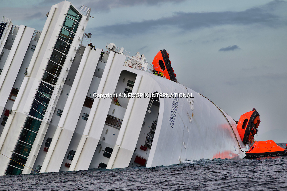 "EXCLUSIVE! : *** Telephone +441279 324672 FOR REPRODUCTION FEES ***.Isola di Giglio, Italy_16/01/2012:  COSTA CONCORDIA CRUISE TRAGEDY.The luxury cruise ship Costa Concordia, that ran aground near Isola del Giglio..The Costa Concordia which was carrying 4,200 people, experienced trouble a few hundred metres from the tiny Tuscan holiday island of Giglio on Friday evening as the passengers were at dinner, after apparently sailing off course..Mandatory Credit Photo: ©Sestini/NEWSPIX INTERNATIONAL..**ALL FEES PAYABLE TO: ""NEWSPIX INTERNATIONAL""**..IMMEDIATE CONFIRMATION OF USAGE REQUIRED:.Newspix International, 31 Chinnery Hill, Bishop's Stortford, ENGLAND CM23 3PS.Tel:+441279 324672  ; Fax: +441279656877.Mobile:  07775681153.e-mail: info@newspixinternational.co.uk"