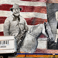 Teddy Roosevelt and Jack Dempsey Mural in Denver, Colorado<br />