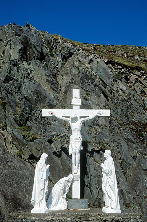Roadside shrine along the Dingle Pininsula drive, County Kerry, Ireland